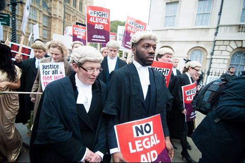 Legal aid protest 7 March